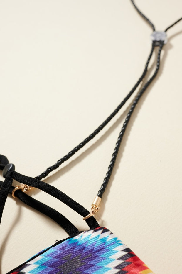 Braided PU Leather Mask Lanyards