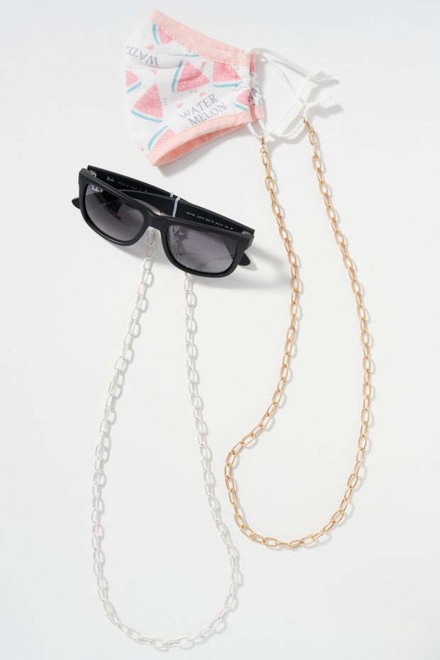 Plain Metal Chain Mask Lanyards