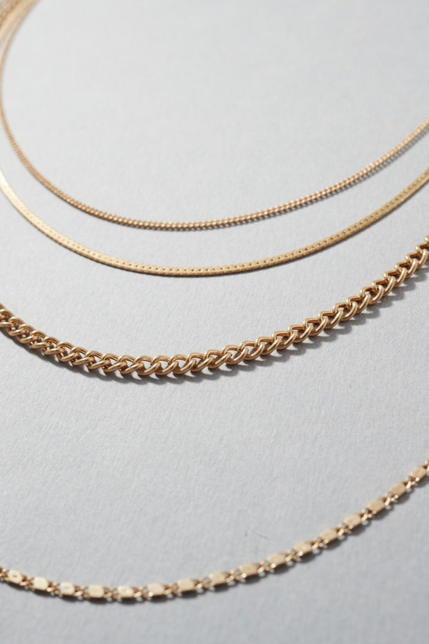 Multi Layered of Thin Chain Necklace