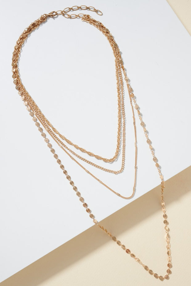 Multi Layered of Various Chain Necklace