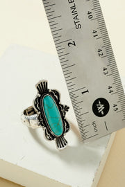 Western Squash Blossom Adjustable Ring