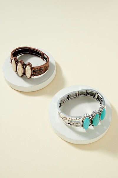 Western Turquoise Stone Bangle