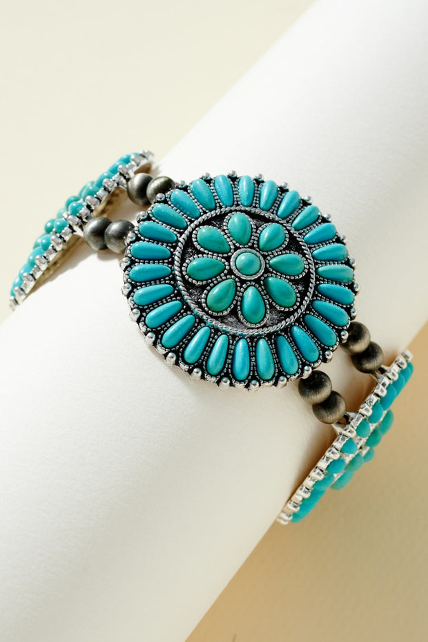 Navajo Turquoise Stone Bangle