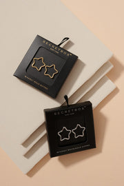 Simple Star Shape  Gold Dipped Post Earrings