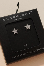 CZ Little Star Shaped Gold Dipped Post Earrings