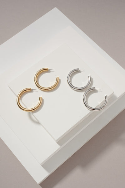 Shiny Gold Dipped Hollow Hoops
