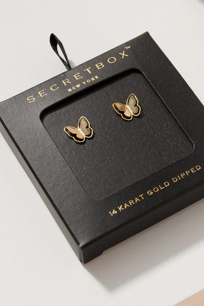 Butterfly Shaped Gold dipped Earrings