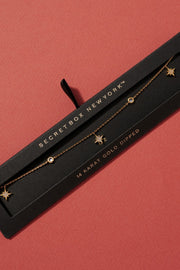 Secret Box North Star CZ Gold Dipped Necklace