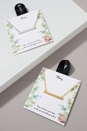 Your Story Simple Side Bar Charm Gold Dip Necklace