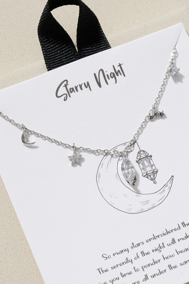 The Moon And Stars Station Short Necklace
