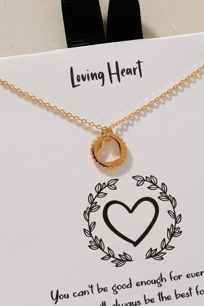 Loving Heart meaningful Gold Dip Necklace