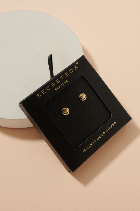 Smile Round Shape Post Earrings