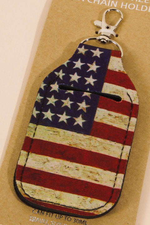 Antique American Flag Hand Sanitizer Holder