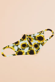 Sunflower Print Washable Face Mask