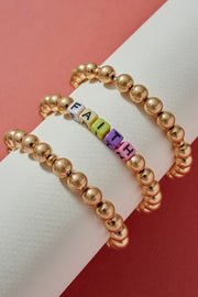 Inspirational Metal Beaded Bracelet Set