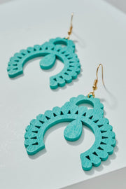 Squash Blossom Wooden Earrings
