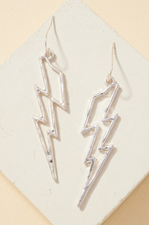 Thunder Bolt Dangling Earrings