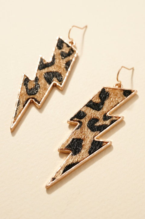 Mix Print Thunder Bolt Dangling Earrings