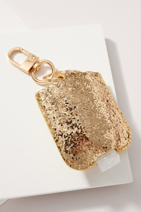 Christmas Theme Glittered Sanitizer Holder