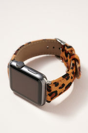 Animal Print Calf Hair Leather iWatch Band Large