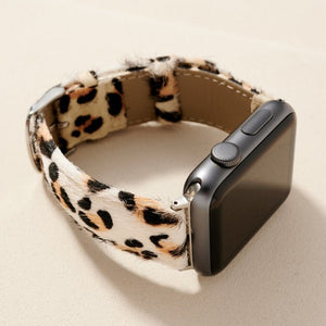 Animal Print PU Calf Hair iWatch Band Small