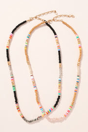 Rubber Glass Beaded Necklace