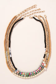 Rubber Wood Beaded Necklace
