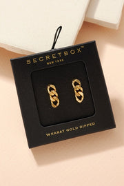 Secret Box Chain Link Earrings