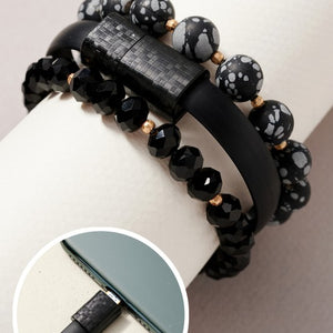 Set of 3 Bracelets with iphone Charger