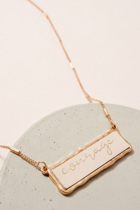 Courage Inspirational Charm Necklace