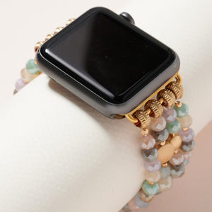 Glass Bead Multi Layered iWatch Band Small