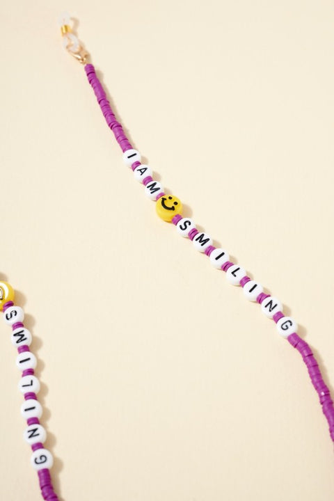 Rubber Beaded Mask Lanyard for Kids