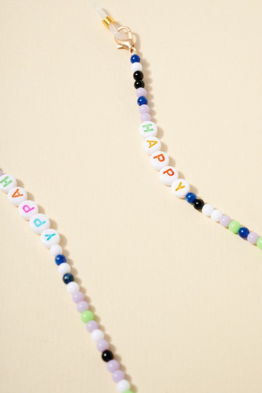 Seed Beaded Mask Lanyard For Kids