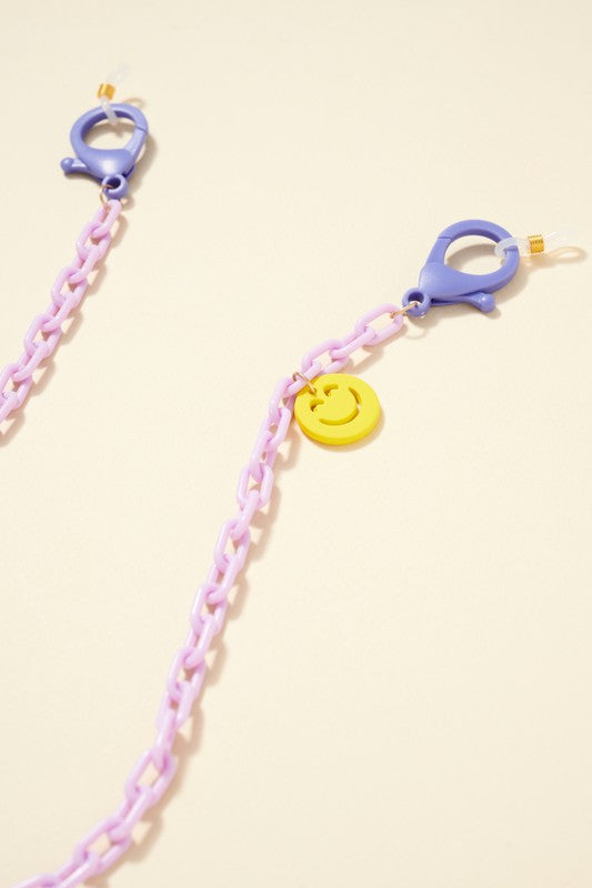 Acetate Chain Linked Charm Mask Lanyards Kids