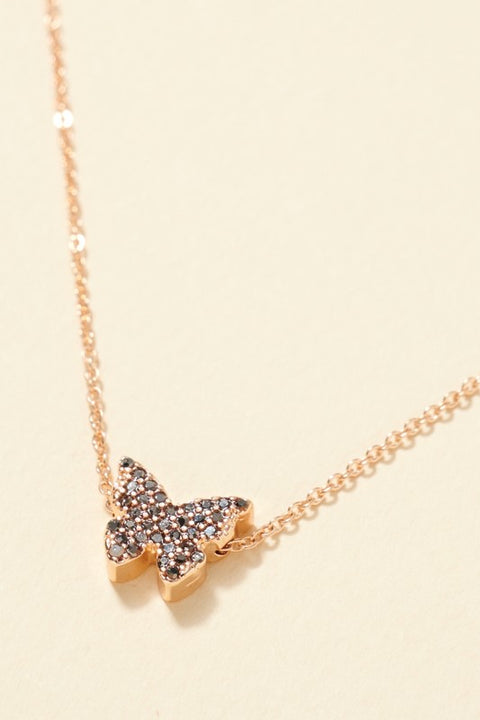 Butterfly Charm Rhinestones Short Necklace