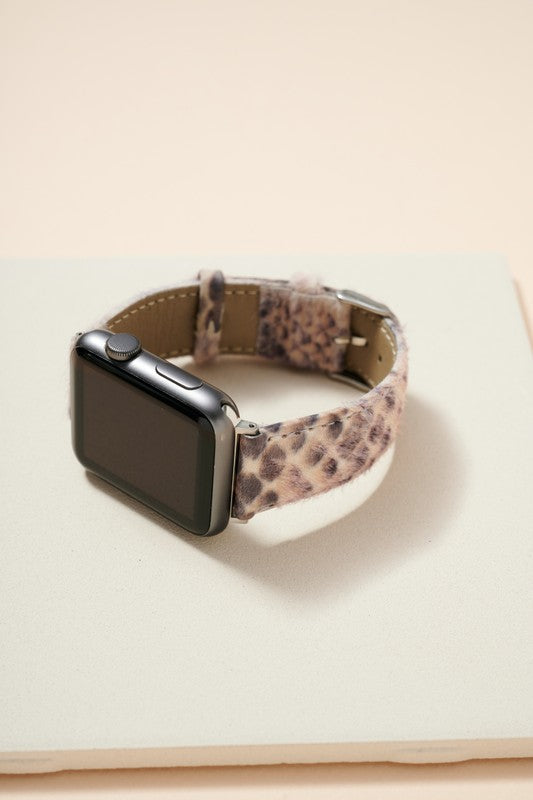Animal Print Calf Hair Leather iWatch Band Small