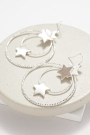 Star Charms Layered Hoop Earrings