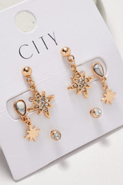 Northern Stars Rhinestones Stud Earrings Set