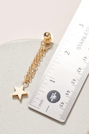 Star Charms Chain Dangling Earrings