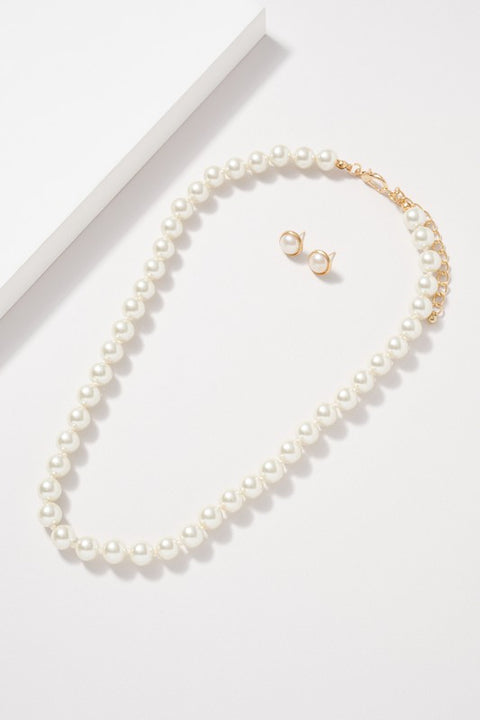 10MM Glass Pearl Beaded Necklace