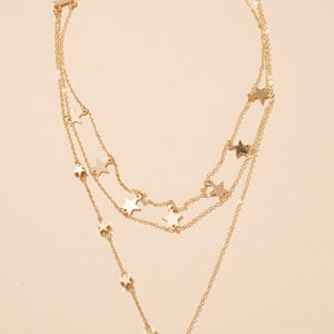 Star Charms Layered Necklace