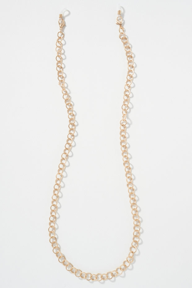 Round Metal Chain Linked Mask Lanyards