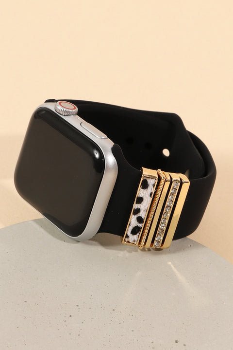 Animal Print Accent Rubber iWatch Band Small