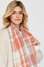 Pastel Color Palette Plaid Cozy Infinity Scarf