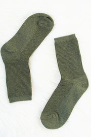Cotton Ribbed Socks