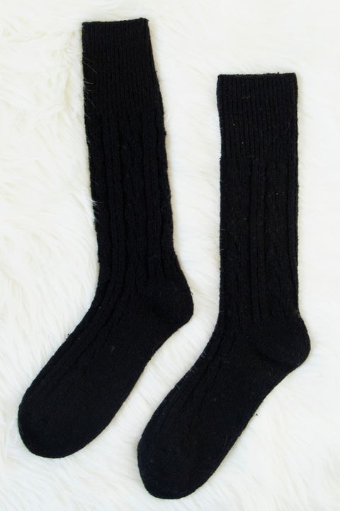 Essential Cable Knit Boot Sock