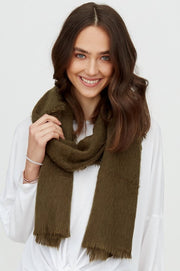 Soft Textured Frayed Edge Scarf
