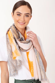 Water Paint Brush Stroke Print Scarf