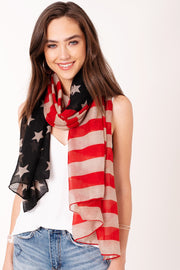 Patriotic Stripe and Star Scarf