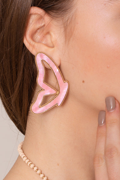Butterfly Shell Dangling Earrings
